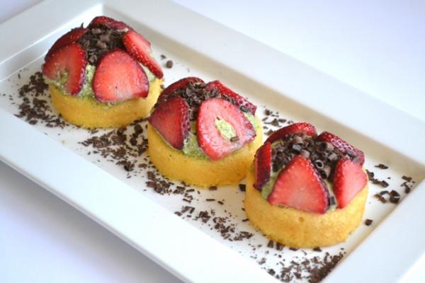 Matcha Green Tea & Strawberry Shortcakes Baking Recipe