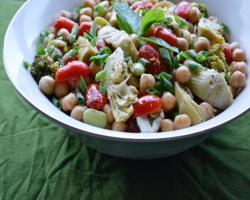 Chickpea, Tomato & Artichoke Salad Recipe