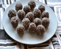 Chocolate Coconut Rum Balls Dessert Recipe