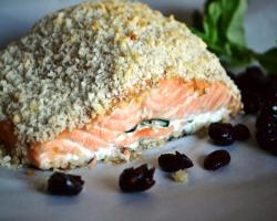 Spinach Cranberry Stuffed Salmon Cooking Recipe