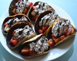 Fruit Dessert Tacos Recipe