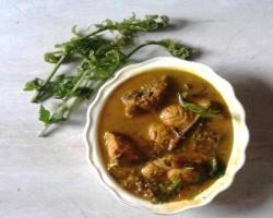 Fish Cooked w/ Fiddlehead Ferns Cooking Recipe