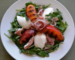 Grilled Nectarines & Burrata Salad w/ Prosciutto  Cooking Recipe