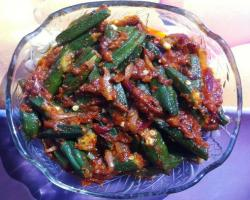 Okra with Onions Cooking Recipe