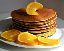 Orange & Matcha Green Tea Pancakes Cooking Recipe