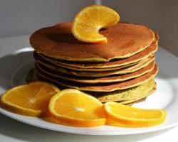Orange & Matcha Green Tea Pancakes Cooking Recipe