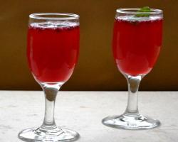 Pomegranate Basil Sparkler Drink Recipe