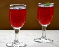 Pomegranate Basil Sparkler Drink Recipe