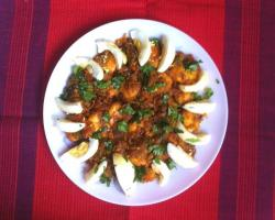 Spicy Prawns with Eggs Cooking Recipe