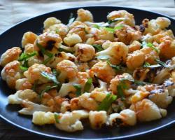 Roasted Cauliflower w/ Spicy Tahini Sauce Cooking Recipe