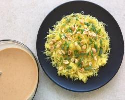 Spaghetti Squash with Thai Peanut Sauce Cooking Recipe