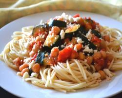 Summer Squash and Chickpea Pasta Recipe