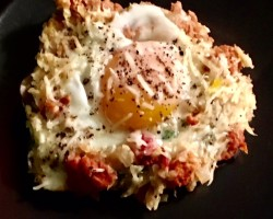Chorizo & Sweet Potato Hash with Eggs Cooking Recipe