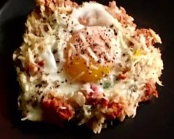 Chorizo & Sweet Potato Hash with Eggs Cooking Recipe