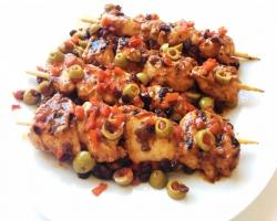 Tunisian Chicken Kebabs w/ Currants & Olives Cooking Recipe