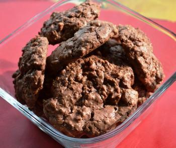 Chocolate Coconut Puffs w/ Pecans Dessert Recipe