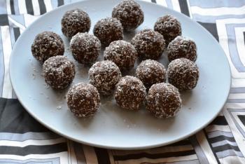 Chocolate Coconut Rum Balls Dessert Recipe