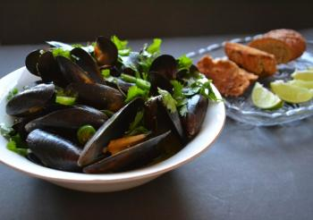 Coco-Curried Mussels Cooking Recipe