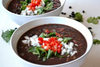 Cuban Black Bean Soup Recipe