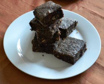 Dark Chocolate Walnut Brownies Cooking Recipe