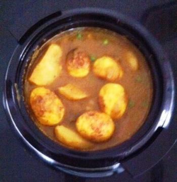 Egg and Potato Curry Cooking Recipe
