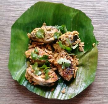 Fish Cooked in Banana Leaves Cooking Recipe