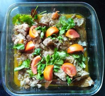 Goat Meat cooked with Curd Cooking Recipe