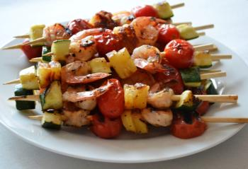 Hawaiian Shrimp Kebabs BBQ Recipe