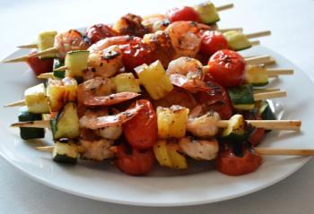 Hawaiian Shrimp Kebabs BBQ Recipe