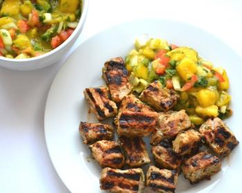 Jerk Pork with Mango-Avocado Salsa Cooking Recipe
