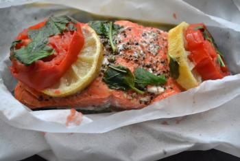 Microwave Salmon in a Bag Cooking Recipe