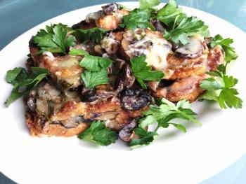 Triple Mushroom Bread Pudding Cooking Recipe
