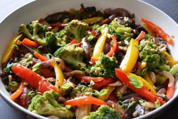 Mushroom & Bell Pepper Stir Fry Cooking Recipe