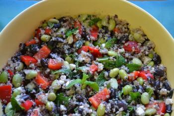 Quinoa Salad with Edamame & Black beans Cooking Recipe