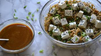 Chilled Soba Noodles w/ Spicy Orange Sesame & Tofu Cooking Recipe