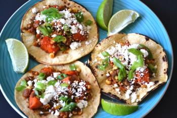 Sweet Potato, Poblano & Chorizo Tacos Cooking Recipe