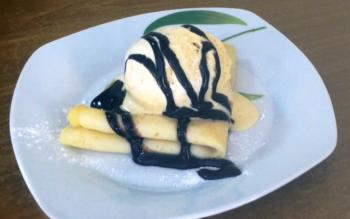 Vanilla Ice-cream Crépes Recipe