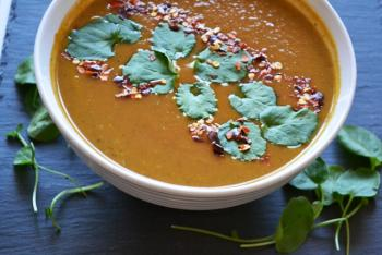 Watercress & Root Veggie Soup Recipe