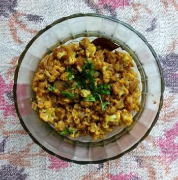 Cauliflower cooked w/ Yogurt Cooking Recipe