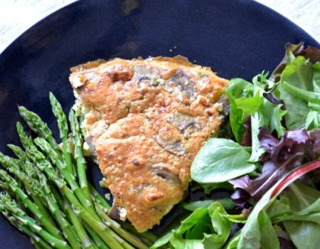 Asparagus & Mushroom Frittata Cooking Recipe