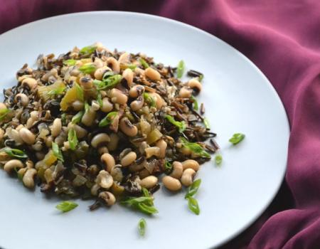 Black-eyed peas with Wild Rice (Hoppin John) Cooking Recipe