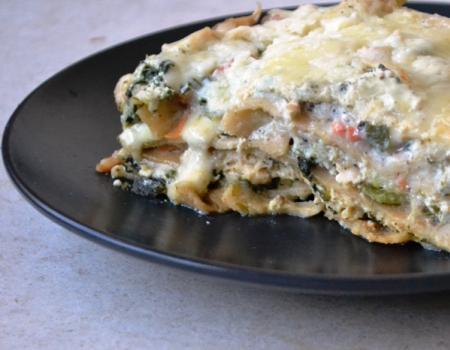 Chicken, Olive & Veggie Lasagna Baking Recipe