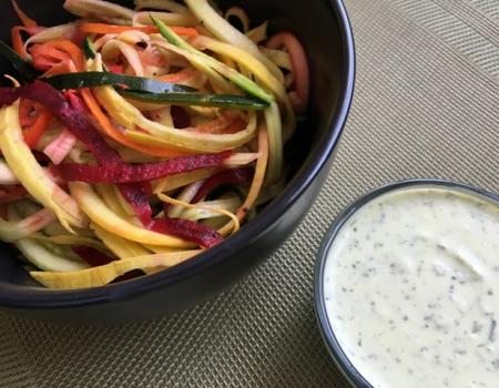 Greek Yogurt Dressing w/ Spiralized Vegetable Noodles Recipe