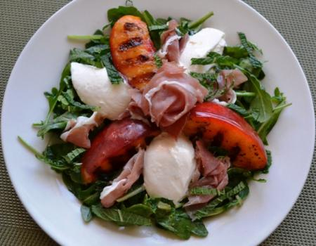 Grilled Nectarines & Burrata Salad w/ Prosciutto  Cooking Recipe