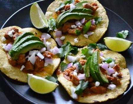 Slow Cooker Pork Tinga Tostadas Cooking Recipe
