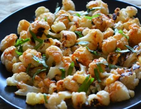 Roasted Cauliflower w/ Spicy Tahini Sauce Cooking Recipe