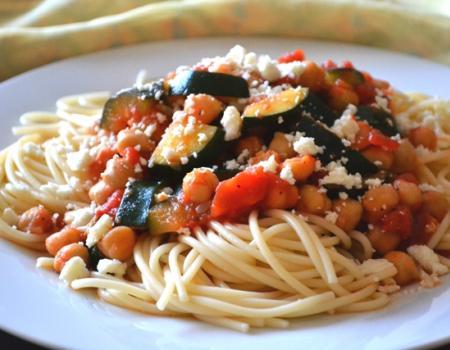 Summer Squash and Chickpea Pasta Recipe