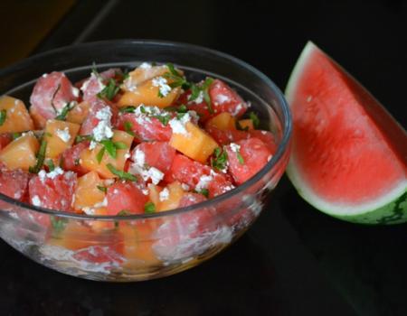 Watermelon & Cantaloupe Salad Recipe