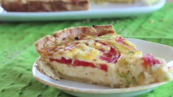 Vegetarian Quiche Recipe Video